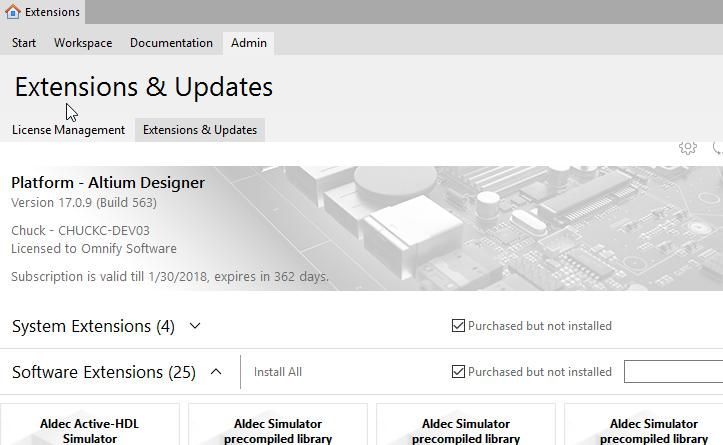 Altium Extension Install